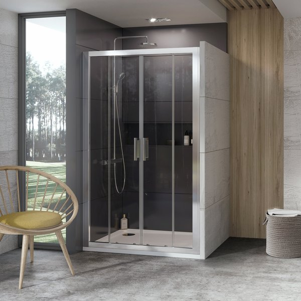 Usa de nisa tip cortina Ravak Concept 10° 10DP4-120 120cm alb