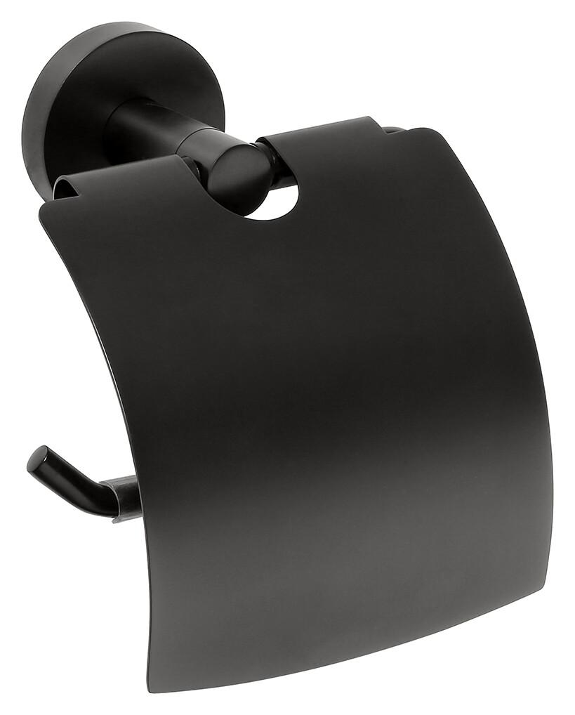 Suport hartie igienica cu aparatoare Bemeta Dark imagine