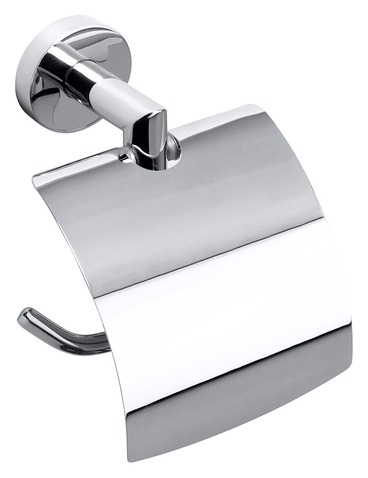 Suport hartie igienica cu aparatoare Bemeta Omega crom imagine