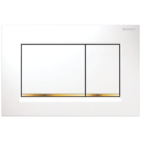 Clapeta actionare Geberit Sigma30 alb-auriu imagine