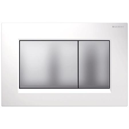 Clapeta actionare Geberit Sigma30 alb-crom mat imagine