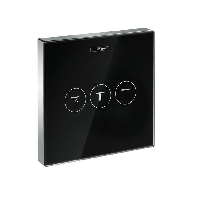 Divertor Hansgrohe Shower Select Glass pentru 3 consumatori necesita corp ingropat negru-crom imagine