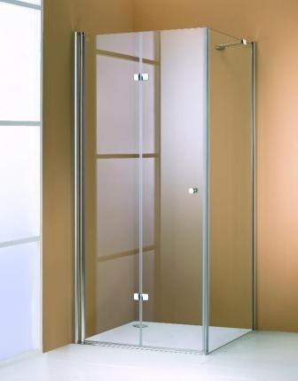 Usa pliabila batanta Huppe Design Elegance 501 Pure 90 cm profil crom mat sticla clara orientare stanga imagine