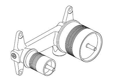 Corp incastrat Ideal Standard pentru baterie lavoar cu montaj pe perete imagine