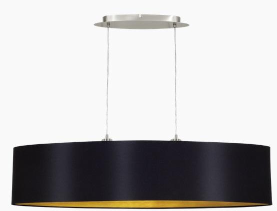 Pendul Eglo Maserlo 2x60w L 100cm Colectia Textile Nichel Black Gold