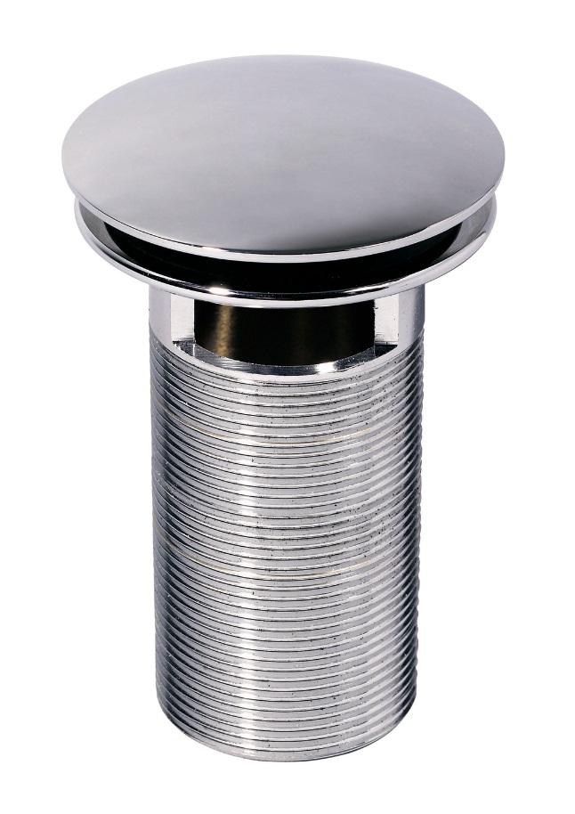 Ventil alama cromat Wirquin PRO 100mm clapeta rotunda push-open cu preaplin imagine