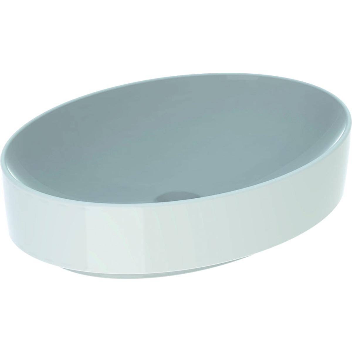 Lavoar oval tip bol Geberit VariForm 55x40cm fara orificiu baterie fara preaplin alb imagine