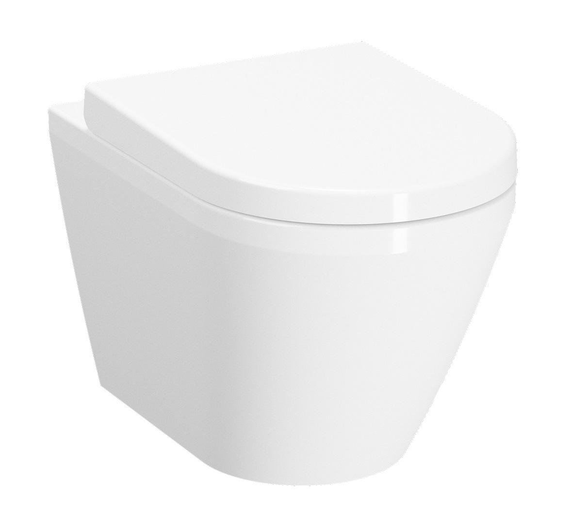 Vas WC suspendat Vitra Integra 54cm Rim-Ex prinderi ascunse imagine