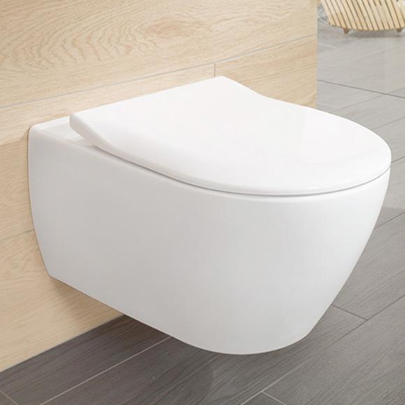 Set vas WC suspendat Villeroy & Boch Subway 2.0 DirectFlush cu capac inchidere lenta imagine