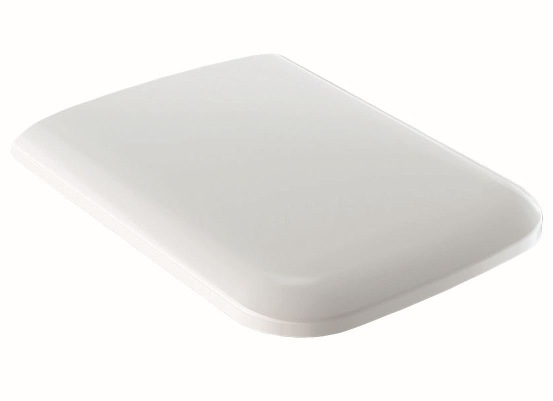 Capac WC Geberit iCon Square cu inchidere lenta alb imagine