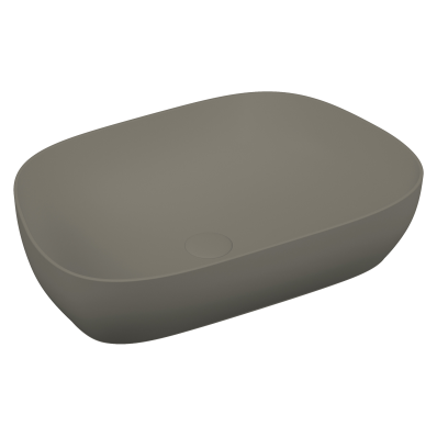 Lavoar tip bol Vitra Outline VitrAclean fara orificiu baterie fara preaplin ventil ceramic Platinium imagine