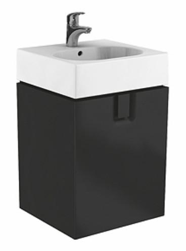 Dulap baza Kolo Twins cu 1 usa cu inchidere lenta 60cm culoare negru mat imagine