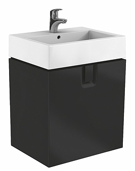 Dulap baza Kolo Twins 60 cm cu un sertar negru mat imagine