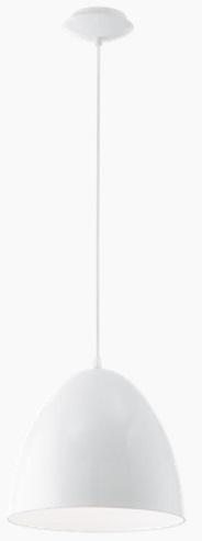 Pendul Eglo Trend Coretto 1x 60W h 110cm d 27.5cm Alb