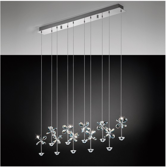 Pendul Eglo Pianopoli 10x 2 5w Colectia Avantgarde Crom Cristal