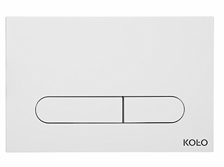 Clapeta dubla actionare Kolo alb pentru cadru Slim 2 imagine