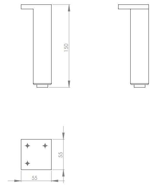 Set 2 picioare pentru mobilier Kolo Rekord imagine