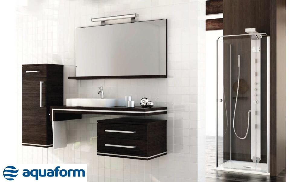 Mobilier de baie cu oglinda Aquaform