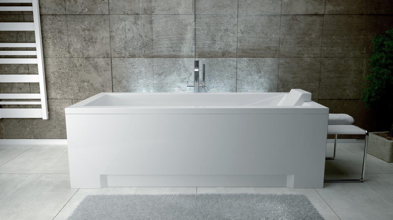 Cada baie rectangulara Besco Modern 170x70cm acril imagine