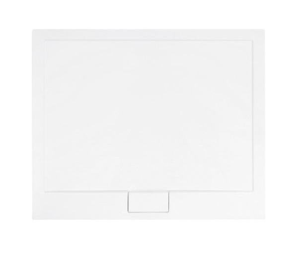 Cadita dus dreptunghiulara Besco Axim Ultraslim 120x80x4.5cm alb imagine