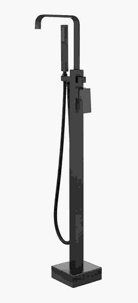 Baterie cada cu montaj pe pardoseala Besco Modern I negru mat imagine