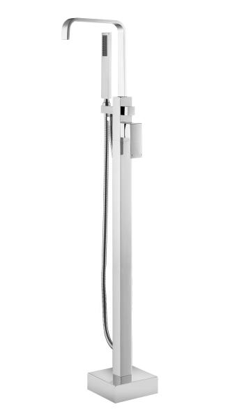 Baterie cada cu montaj pe pardoseala Besco Modern I crom imagine