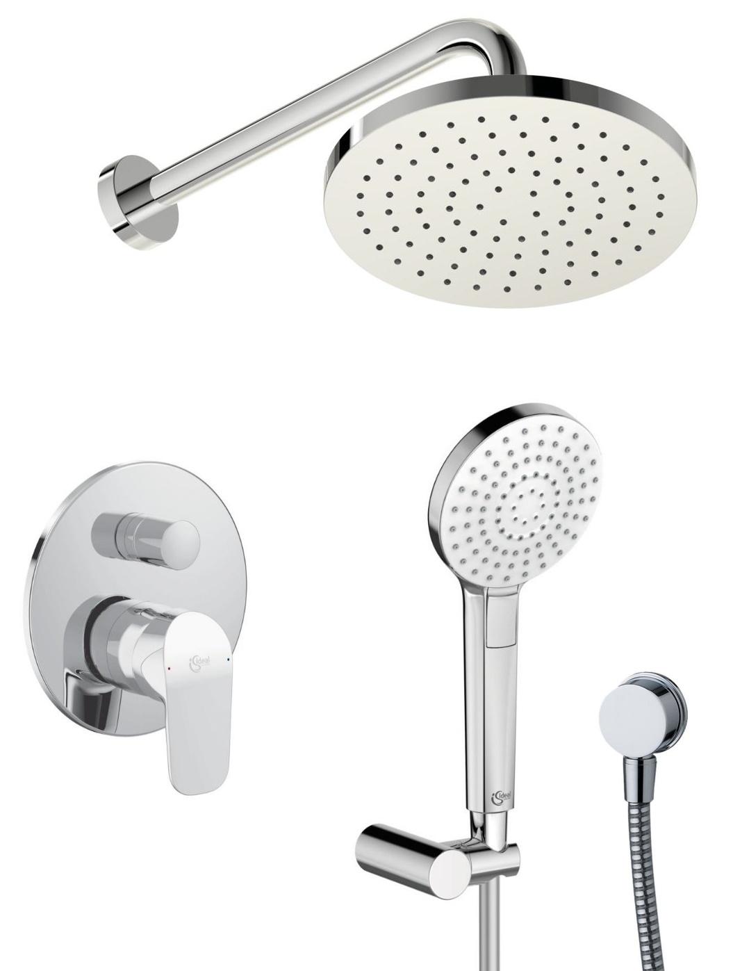 Sistem de dus incastrat Ideal Standard Ceraflex Ideal Rain Evo cu 2 consumatori imagine