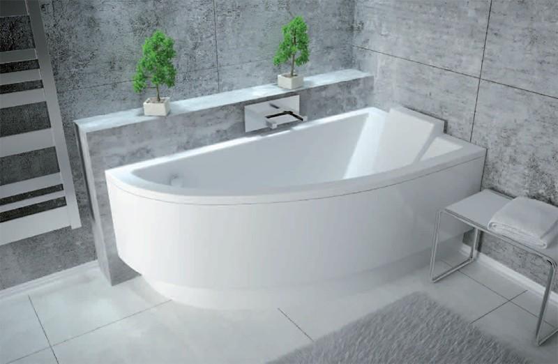Cada baie asimetrica Besco Praktika 140x70cm acril orientare dreapta imagine