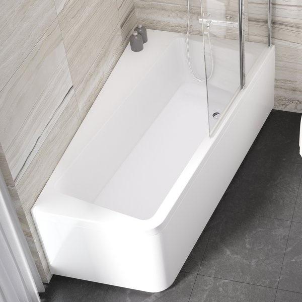 Cada baie asimetrica Ravak Concept 10° 170x100cm acril orientare dreapta imagine