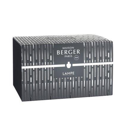 Set Berger lampa catalitica Berger Amphora Noire cu parfum Lait de Figue