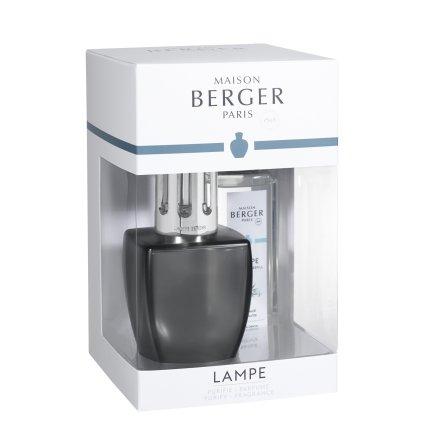 Set lampa catalitica Berger June Gris Satine cu parfum Eau d'Aloe