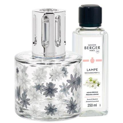 Set lampa catalitica cu parfum Berger Pure Floral cu parfum Jasmin Precieux 250ml