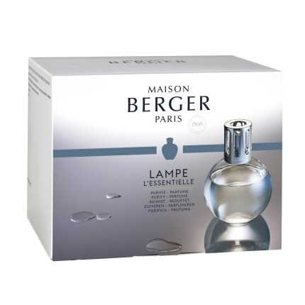 Set Berger lampa catalitica Essentielle Ronde cu parfum Caresse de Coton si So Neutral