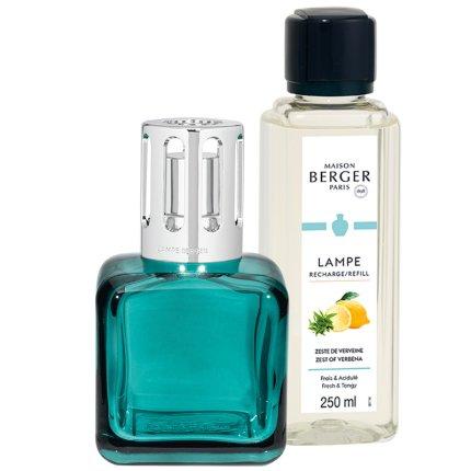 Set Berger lampa catalitica Ice Cube cu parfum Zeste de Verveine