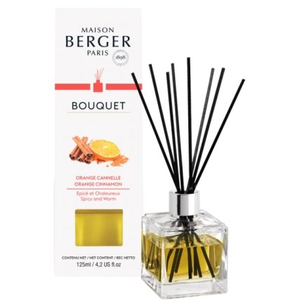 Difuzor parfum camera Berger Bouquet Parfume Cube Orange de Cannelle 125ml