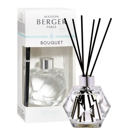 Difuzor parfum camera Berger Bouquet Parfume Geometry Transparent - Zeste de verveine 180ml
