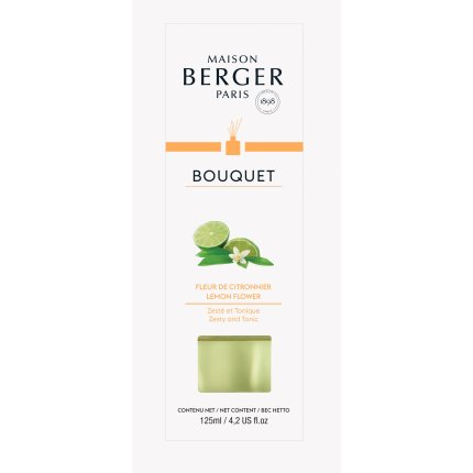 Difuzor parfum camera Berger Bouquet Parfume Cube Fleur de Citronnier 125ml