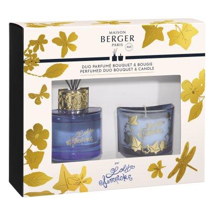 Set Berger Duo Lolita Lempicka Blue Bouquet Parfume 80ml + lumanare parfumata 80g