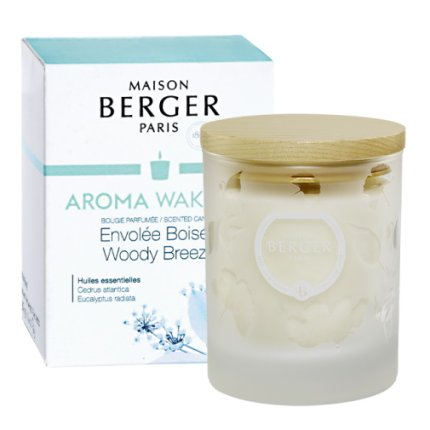 Lumanare parfumata Berger Aroma Wake-up Woody Breeze 180g