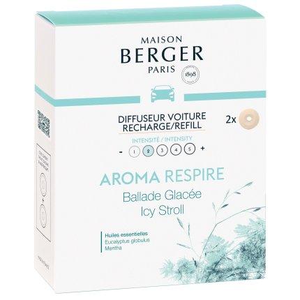Rezerve ceramice odorizant masina Berger Aroma Respire Icy Stroll 2 piese