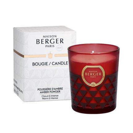 Lumanare parfumata Berger Clarity Bordeaux Poussiere d'Ambre 180g