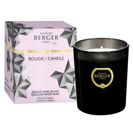 Lumanare parfumata Berger Black Crystal Delicate White Musk 240g