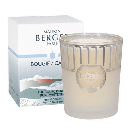 Lumanare parfumata Berger Land Blanc givre Pure white tea 180g