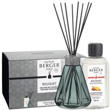 Difuzor parfum camera Berger Vintage Pyramide Vert cu parfum Orange de Cannelle 200ml