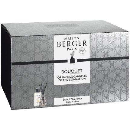Difuzor parfum camera Berger Vintage Pyramide Rose cu parfum Orange de Cannelle 200ml