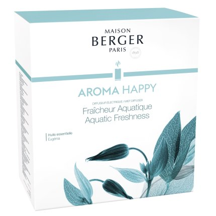 Difuzor ultrasonic parfum Berger Aroma Happy + parfum Fraicheur Aquatique 475ml