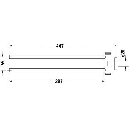 Suport dublu pentru prosoape Duravit D-Code 44.5cm