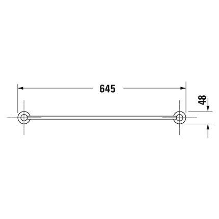 Bara port prosop Duravit D-Code 64.5cm