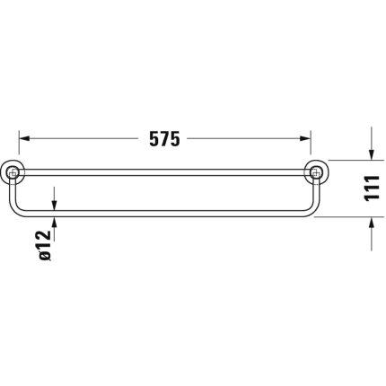 Etajera port prosop Duravit D-Code 65x22cm, crom