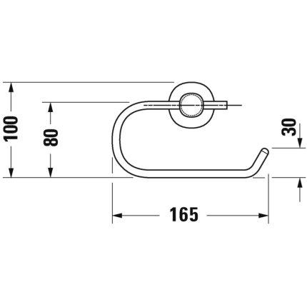 Suport hartie igienica Duravit D-Code